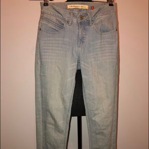 Christopher Blue Light Wash Mid Rise Skinny Jeans